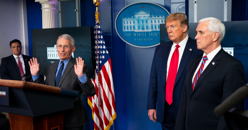 Fauci Defends Trump, Who Says He Has No Plans to Dismiss Him